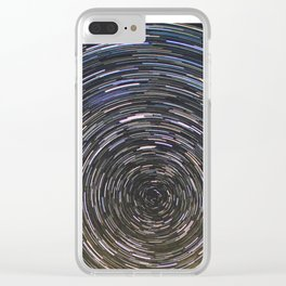 Star trails Clear iPhone Case