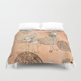 These Mazes We Carry Duvet Cover