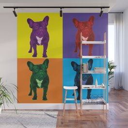 Four French Bulldogs by Crow Creek Coolture Wall Mural