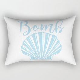 Bomb Shell Blue Rectangular Pillow