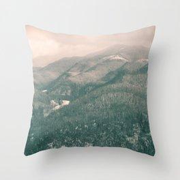 West Virginia Mountains Throw Pillow