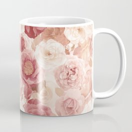 seamless   pattern with roses and leaves . Endless texture Coffee Mug