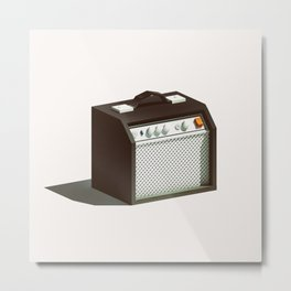 Lo-Fi goes 3D - Guitar Amp Metal Print