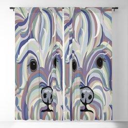 Yorkie Denim Colors Blackout Curtain