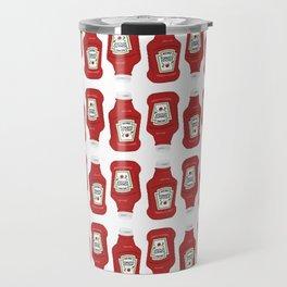 Ketchup Pop Art Travel Mug