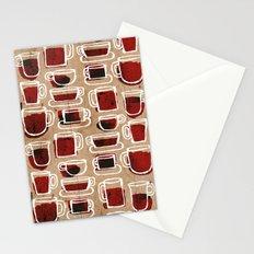 morning pattern Stationery Cards