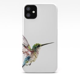Hummingbird, bird art minimalist bird design hummingbird lover iPhone Case