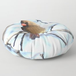Madame cardinal 2020b Floor Pillow