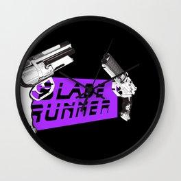 Time to die Version Neon Purple Wall Clock