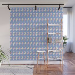 Type Number Seven Pattern Wall Mural