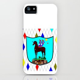 A Mechanical Winged Unicorn with Suns and comet iPhone Case