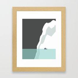Feeling Small - Iceberg Framed Art Print