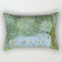 Klimt - Farmhouse in Upper Austria (new editing) Rectangular Pillow