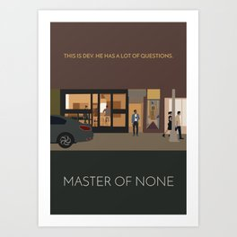 Master Of None Minimalist Poster Art Print