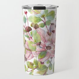 Beautiful Botanical Florals, Caper Flower Bush Travel Mug