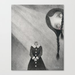 Wednesday's Doll Canvas Print