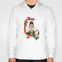 mulan Hoodies featuring Mulan Tattoo by Kathryn Hudson Illustrations