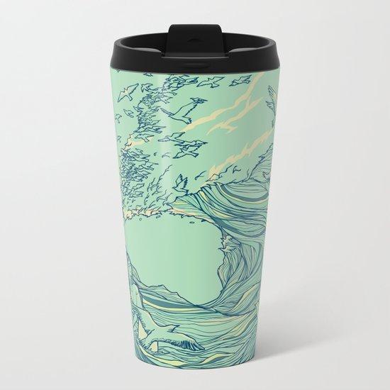Ocean Breath Metal Travel Mug