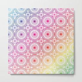 Circle Fretwork rainbows Metal Print