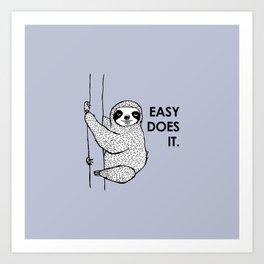 periwinkle does it - sloth Art Print