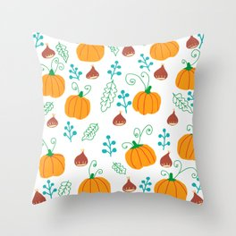 Chestnuts and pumpkins - n. 1 Throw Pillow