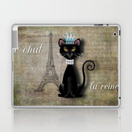 Le Chat, La Reine - The Cat, The Queen Laptop & iPad Skin