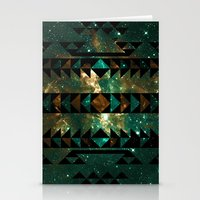 gatsby Stationery Cards featuring Gatsby Dust Tribal by Caleb Troy