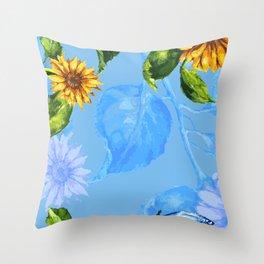 Sunflower's Glory Throw Pillow