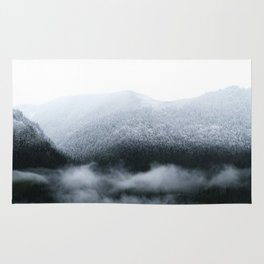 Low Hanging Fog in the Canadian Rockies Rug
