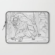 Werewolf from the Bestiary Coloring Book Laptop Sleeve