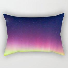 Aurora Rainbow Stars Night Sky Rectangular Pillow