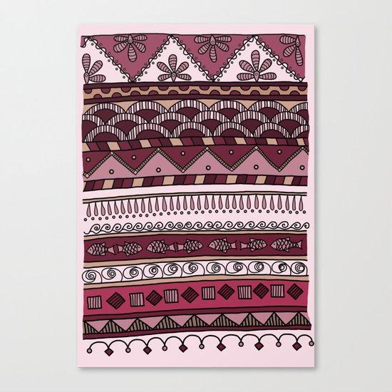 Yzor pattern 004 lilac Canvas Print