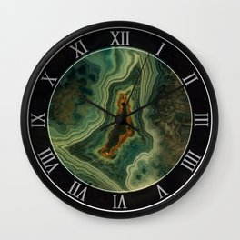 The world of gems - green agate Wall Clock