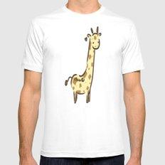 Girafffeee MEDIUM Mens Fitted Tee White