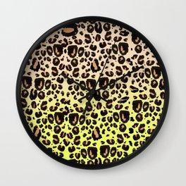 Neon leopard Wall Clock