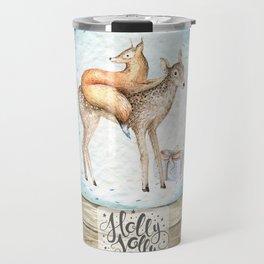 Christmas deer #3 Travel Mug