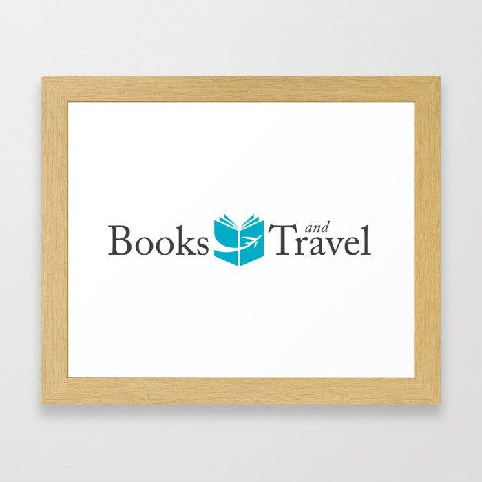 Books and Travel Logo Framed Art Print