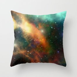 Universe Cosmos Nebula Colorful Pattern Space Stars Throw Pillow