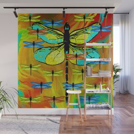 DRAGONFLY FORMATION Wall Mural