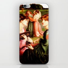 "Dante Gabriel Rossetti ""The Bower Meadow"" iPhone Skin"