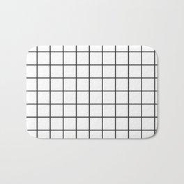 Black & White Grid Pattern Bath Mat