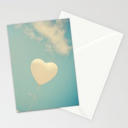 Nostalgic Love, Vintage Heart Balloon  Stationery Cards
