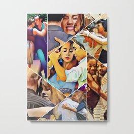 Argentine Tango Abrazo Art Collage Metal Print