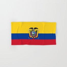 Flag of Ecuador -ecuadorian,Inca,Kichwa,Quito,america, South america,Spanish,Amazonia,latin america Hand & Bath Towel