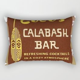 Tiki Art - Coco's Calabash Bar Rectangular Pillow