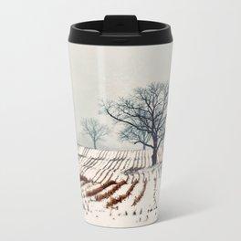 Winter Farm Metal Travel Mug