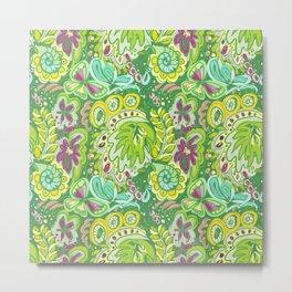 FowerPower green Metal Print