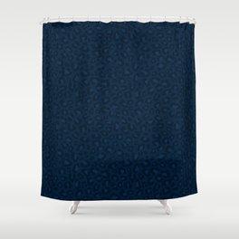Leopard Print 2.0 - Navy Blue Shower Curtain