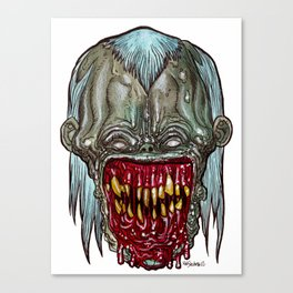 Heads of the Living Dead Zombies: Smiley Zombie Canvas Print
