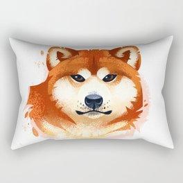 Akita Stylistic Portrait Rectangular Pillow